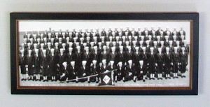restored and framed military photo