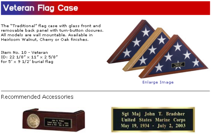 veteran flag case