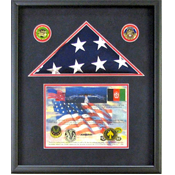 Mendota Heights, MN Flag Shadow Box