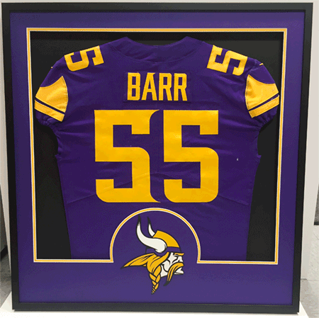 Special Framed Anthony Barr Jersey – For His Mother!