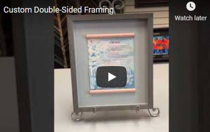 Custom Double-Sided Framing