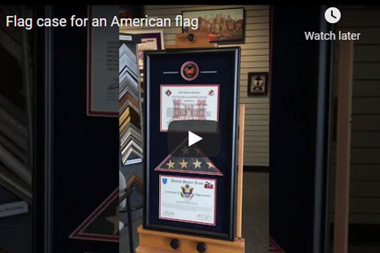 Flag case for American Flag