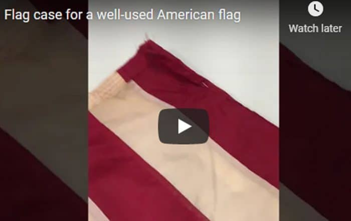 Flag case for a well-used American Flag