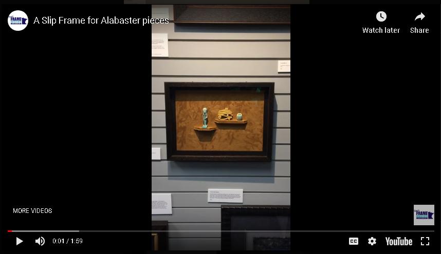 A Slip Frame for Alabaster Pieces