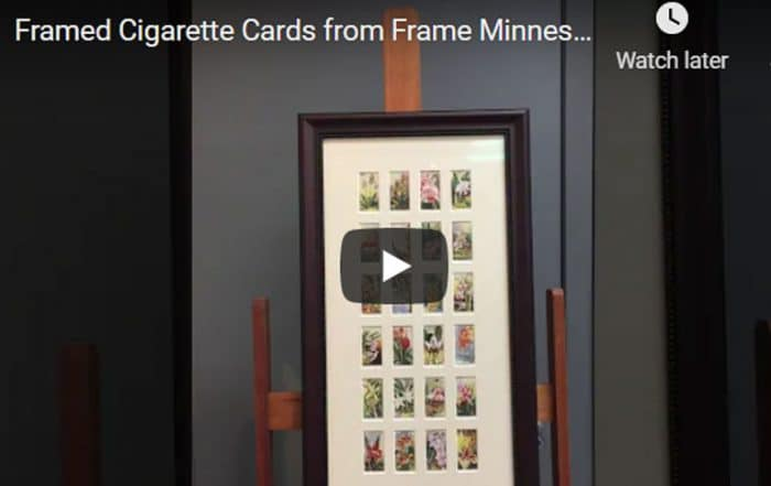 Custom framed cigarette cards