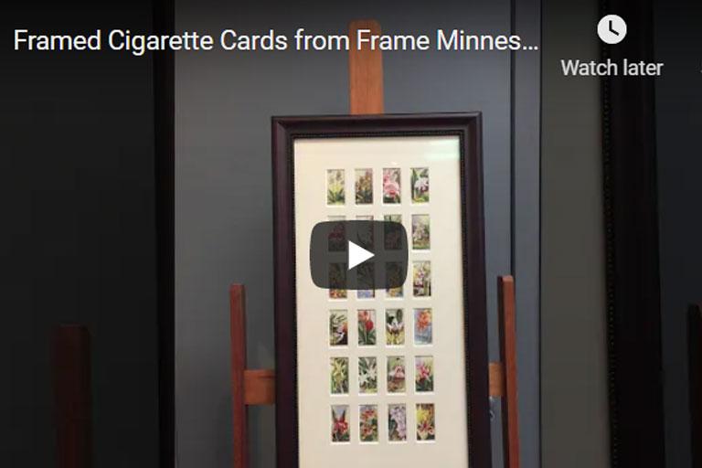 Custom framed cigarette cards