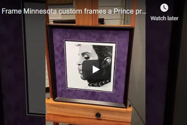 Custom Prince Artwork Frame