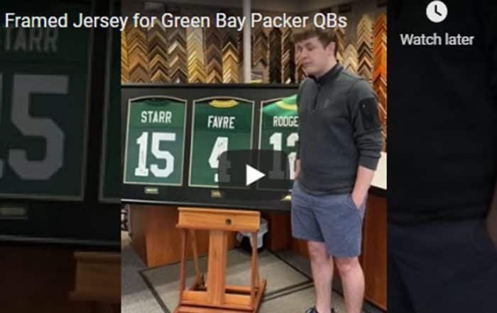 Packers QB Jersey Framing