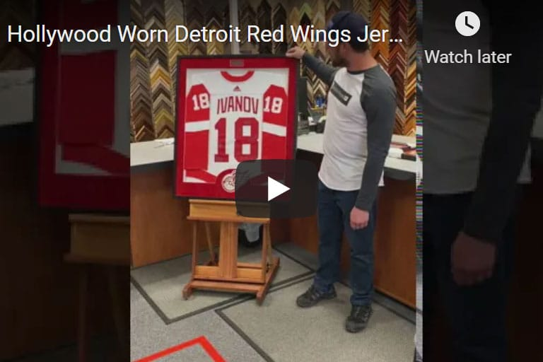 Hollywood Worn Detroit Red Wings Jersey Frame